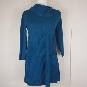 Style & co petite Deep teal sweater dress medium